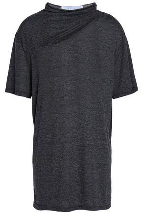 이로 IRO Cutout marled jersey T-shirt,Charcoal