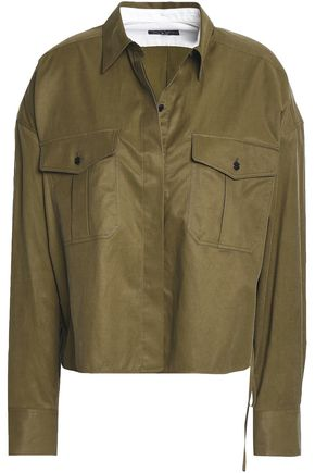 랙앤본 Rag & Bone Lace-up twill shirt,Army green
