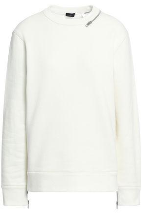 조셉 JOSEPH Zip-embellished French cotton-terry sweatshirt,Off-white