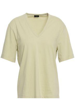 조셉 JOSEPH Cotton-jersey T-shirt,Sage green