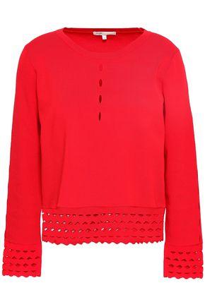 마쥬 스웨터 MAJE Mariade laser-cut stretch-knit sweater,Red