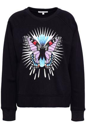 마쥬 MAJE Embroidered printed jersey sweatshirt,Black