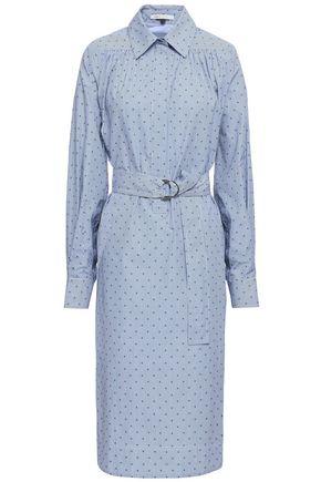 마쥬 MAJE Relino striped fil coupe cotton-poplin shirt dress,Light blue