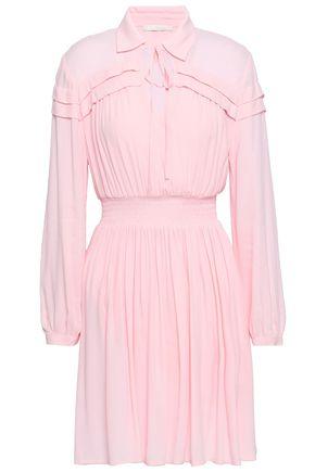 마쥬 MAJE Pleated crepe mini dress,Baby pink