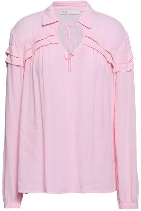 마쥬 러플 크레이프 블라우스 MAJE Ruffled crepe blouse,Baby pink