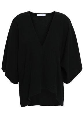 이로 IRO Draped satin-crepe blouse,Black