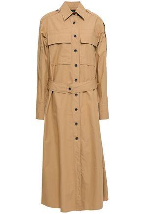 조셉 JOSEPH Hayes cotton-poplin midi shirt dress,Camel