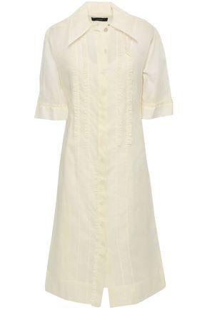 조셉 JOSEPH Molly ruffle-trimmed cotton-organza midi shirt dress,Cream