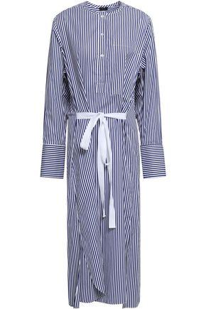 조셉 JOSEPH Nick striped cotton-poplin midi shirt dress,Navy
