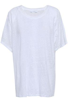 이로 IRO Milna slub linen-jersey T-shirt,White