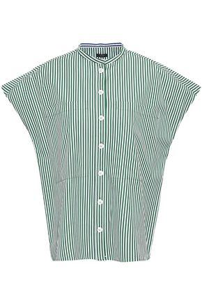 조셉 JOSEPH Striped cotton-poplin shirt,Navy
