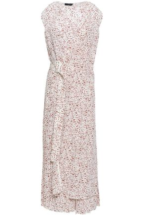 조셉 미디 랩 원피스 JOSEPH Printed silk midi wrap dress,Ivory