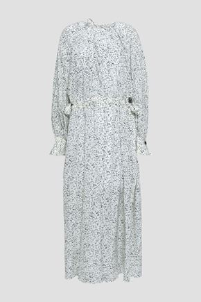 조셉 랩 원피스 JOSEPH Printed silk maxi wrap dress,White