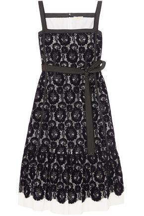 토리버치 Tory Burch Kristen flocked lace and cotton dress,Midnight blue