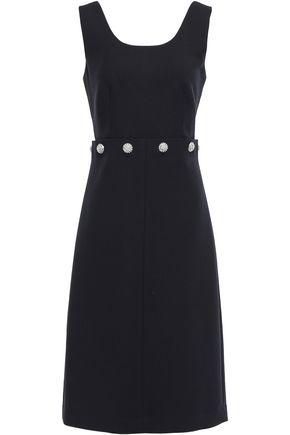 토리버치 Tory Burch Crystal-embellished twill dress,Black