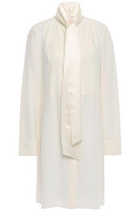 토리버치 Tory Burch Silk-cady mini shirt dress,Ivory