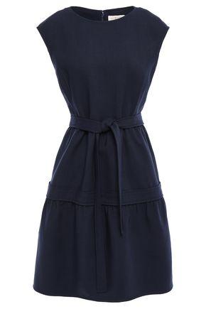 토리버치 Tory Burch Belted gathered twill dress,Navy