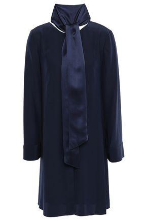 토리버치 Tory Burch Silk-cady mini shirt dress,Navy