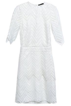 마쥬 MAJE Guipure lace mini dress,White