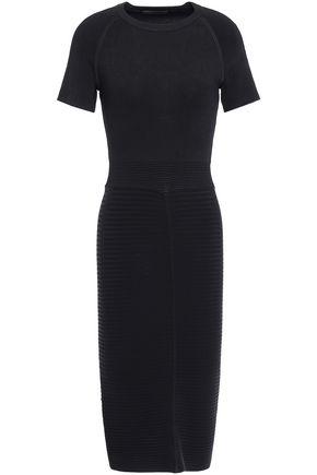 마쥬 MAJE Ribbed-knit dress,Black