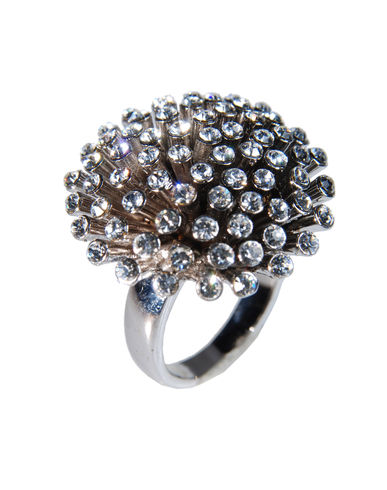 Jewelry - Ring UNSIGNED on YOOX :  rhinestone glass silver stunning