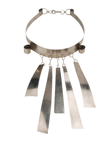 Uncommon Vintage Piece::From a More Common Source, Yoox :  necklace artisan silver leaf hand made