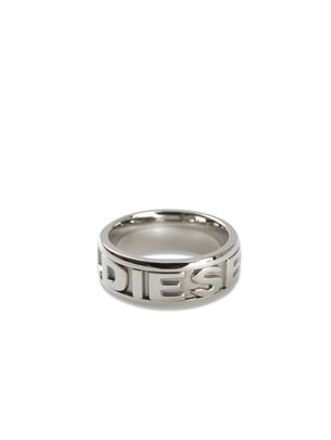  DIESEL: WIDE STEEL LOGO RING