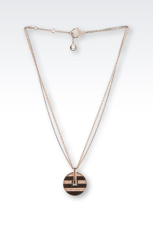 STEEL NECKLACE WITH RHINESTONES: Necklace Women by Armani - 1