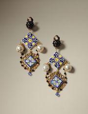 MAJOLICA CLIP ON EARRINGS - Earrings - Dolce&Gabbana - Winter 2016