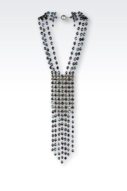 CRYSTAL EMBELLISHED NECKLACE: Necklaces Women by Armani - 1