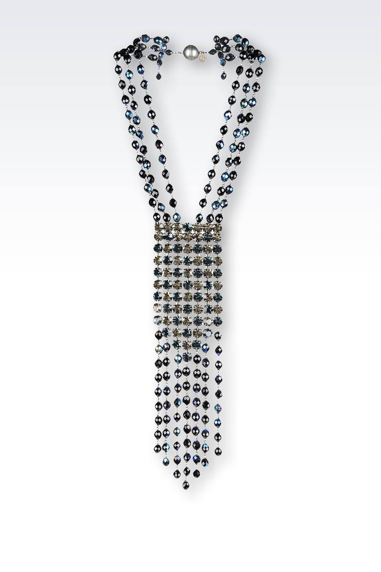 CRYSTAL EMBELLISHED NECKLACE: Necklaces Women by Armani - 0