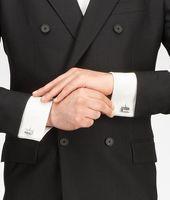Intrecciato Oxydized Silver Cufflink
