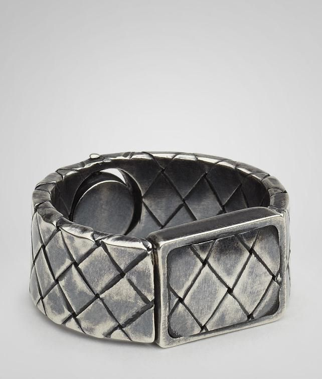 Intrecciato Oxydized Silver Ring