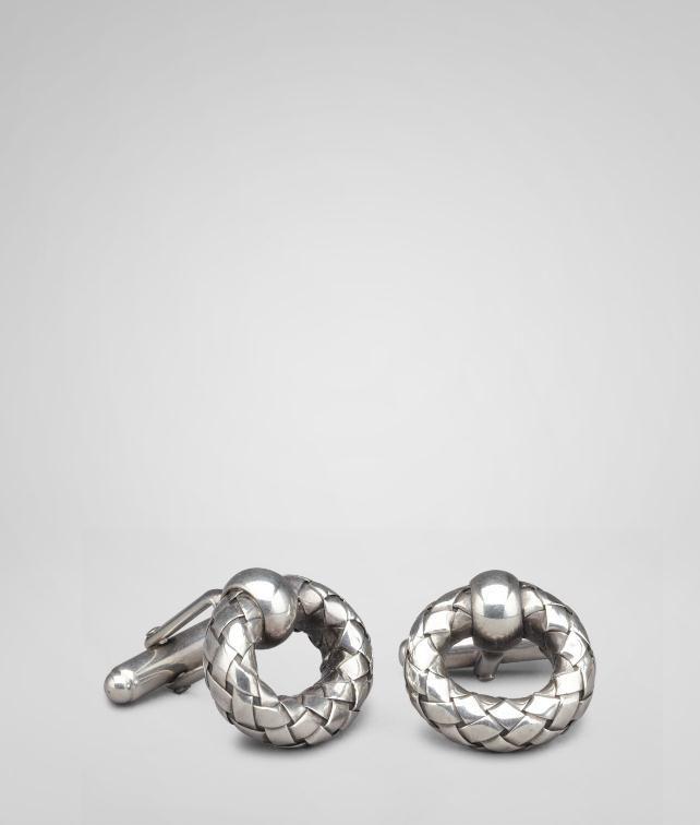 Intrecciato Silver Cufflinks