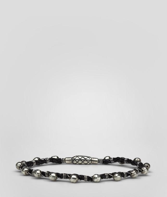 Intrecciato Oxydized Silver Nappa Bracelet