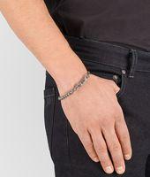 Intrecciato Oxydized Silver Bracelet