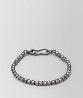 Armband aus oxidiertem Silber Intrecciato