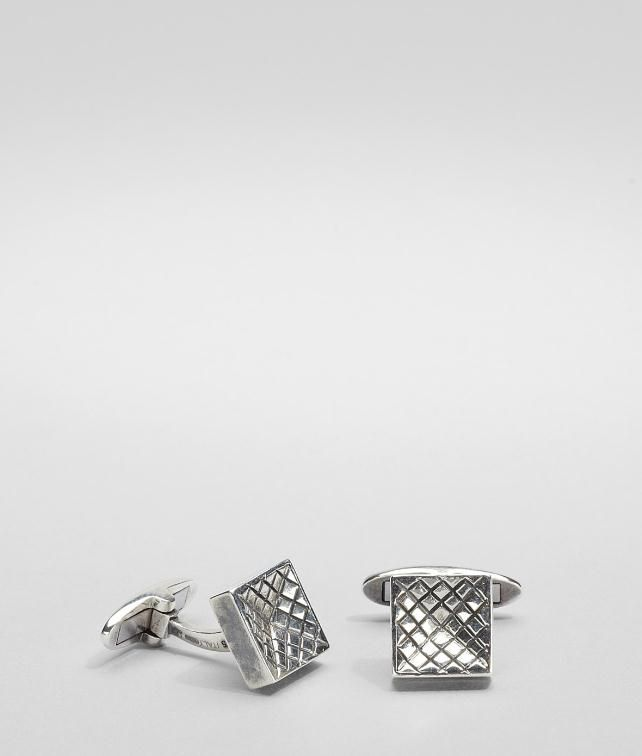 BOTTEGA VENETA Intrecciato Antique Silver Cufflinks Cufflinks U fp