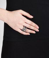 Intrecciato Oxydized Ring