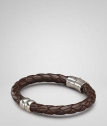 BraceletJewelryNappa leather, 925/1000 silverBrown Bottega Veneta
