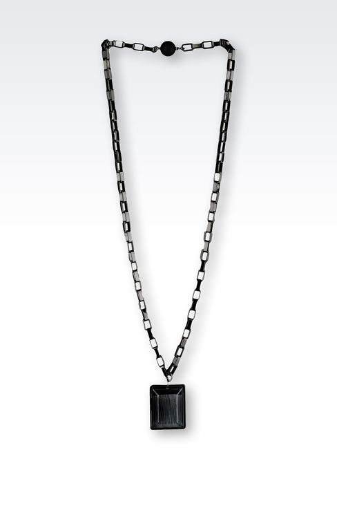 NECKLACE WITH RESIN PENDANT: Necklaces Women by Armani - 1