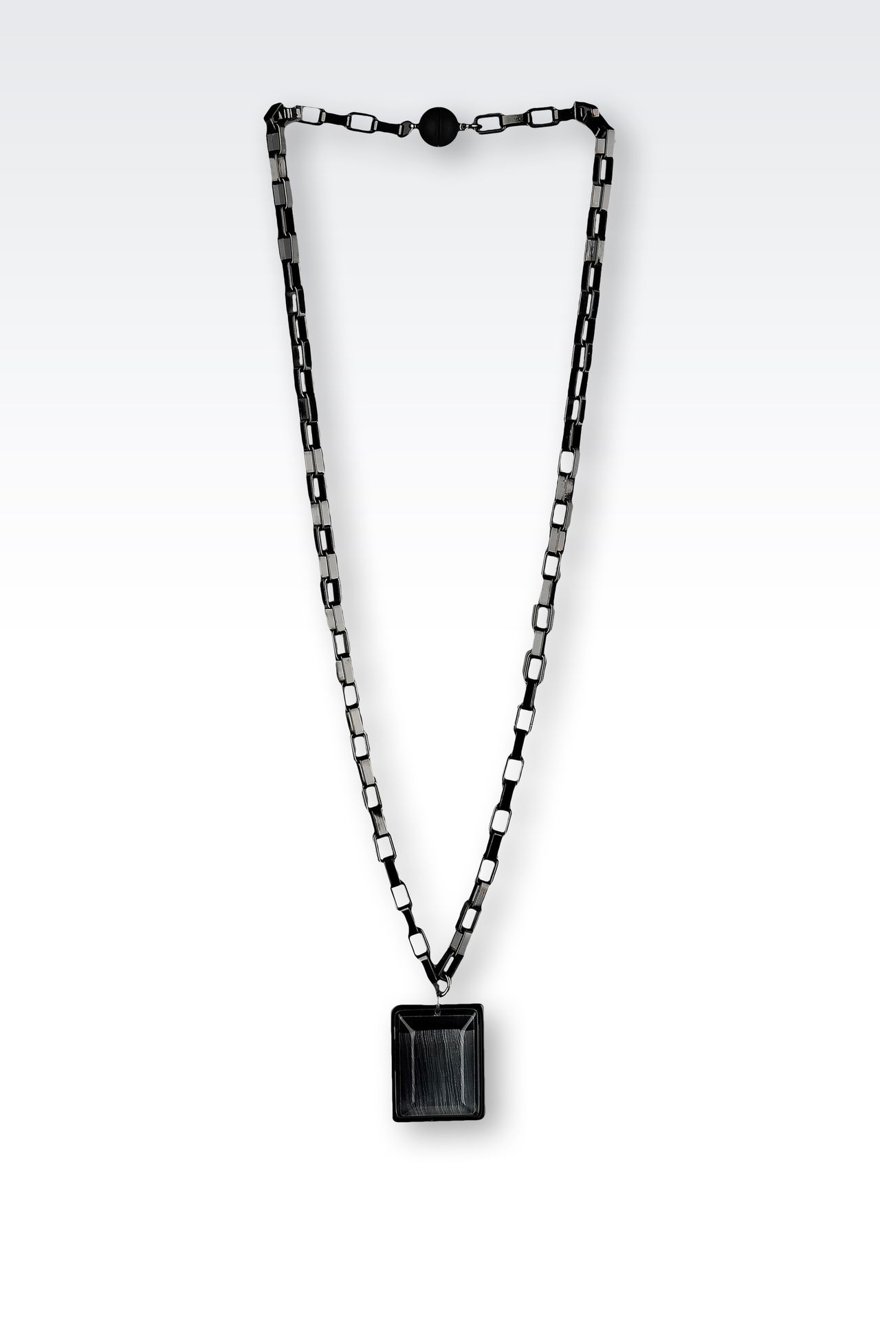 NECKLACE WITH RESIN PENDANT: Necklaces Women by Armani - 0