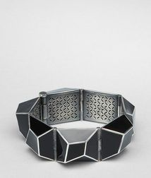 Enamelled Antique Silver Bracelet - BOTTEGA VENETA