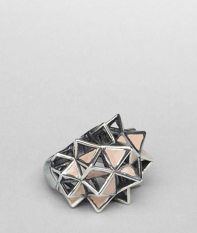 Enamelled Antique Silver Ring