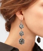 Enamelled Antique Silver Earring