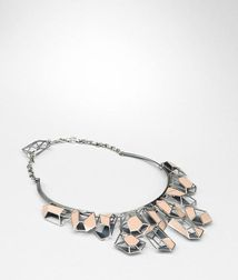 NecklaceJewelryGlass, CeramicPink Bottega Veneta
