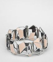 Enamelled Antique Silver Bracelet