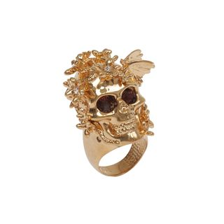 ALEXANDER MCQUEEN, Ring, Crystal Butterfly Skull Ring