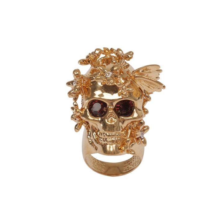 Alexander McQueen, Crystal Butterfly Skull Ring