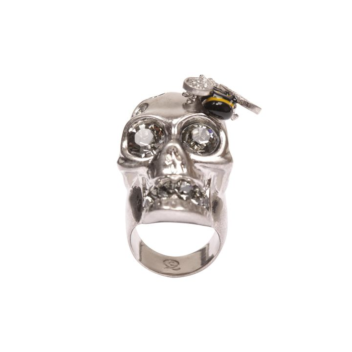 Alexander McQueen, Cocktail Ring Crystal Bee Skull
